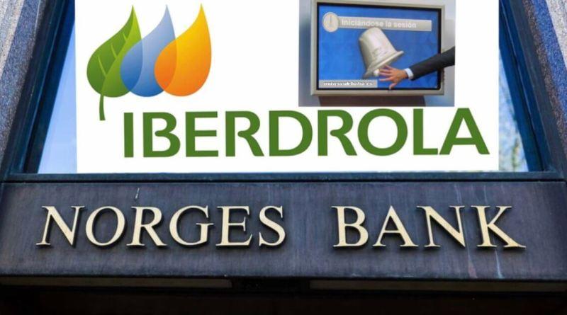 Norges Bank vendió el martes 7 millones de acciones de Iberdrola