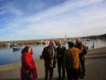 Pereiro visita las obras en el puerto de Cudillero 4