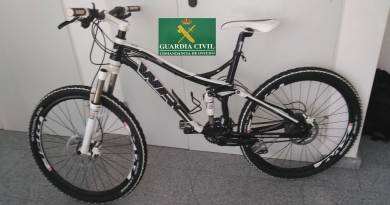 Bicicleta recuperada por la Guardia Civil