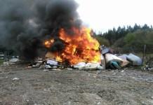 Quema de residuos en Cudillero (2)