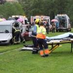 Galería: Simulacro de accidente con múltiples víctimas en Cangas del Narcea