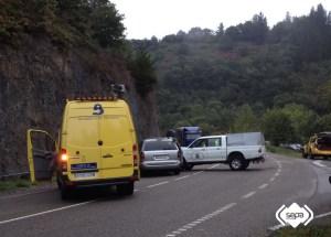Accidente de tráfico en Cangas del Narcea