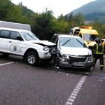Tres heridos en un accidente de tráfico en Cangas del Narcea