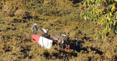 fallecido accidente tractor Allande