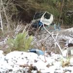 Un fallecido tras volcar con una grúa en Grandas de Salime