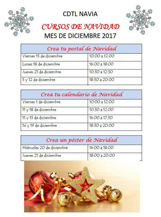 cursos navidad cdtl navia