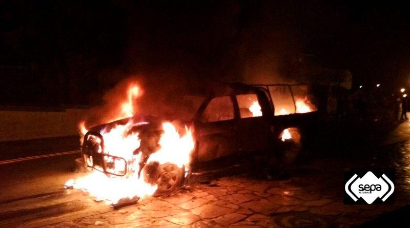 arde vehiculo grandas de salime
