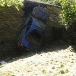 Accidente de tráfico en Las Fraguas, en Cangas del Narcea