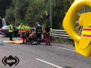 Dos heridos en un accidente de tráfico en Cadavedo, en Valdés 2