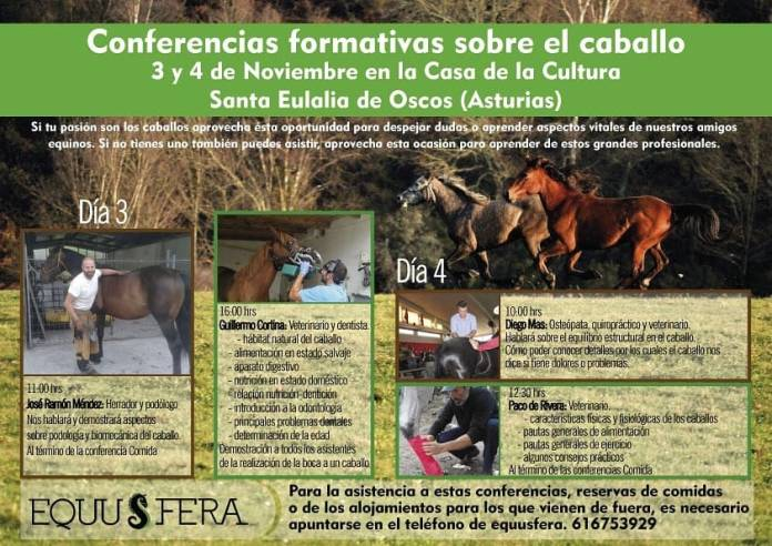 Conferencias formativas sobre el caballo en Santa Eulalia de Oscos 1