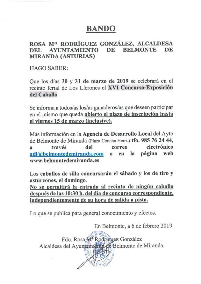 Abierto el plazo de inscripción para el Concurso-Exposición del Caballo en Belmonte 1