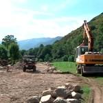 En marcha las obras de saneamiento de Fondos de Vega, en Degaña