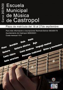 Abierto el plazo de matrícula para la Escuela de Música de Castropol 1