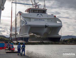 Gondán bota el catamarán de pasaje más grande y rápido construido en España 1
