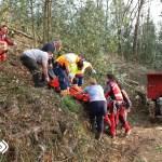 Rescatada una mujer tras una caída en Ese de Calleras, en Tineo