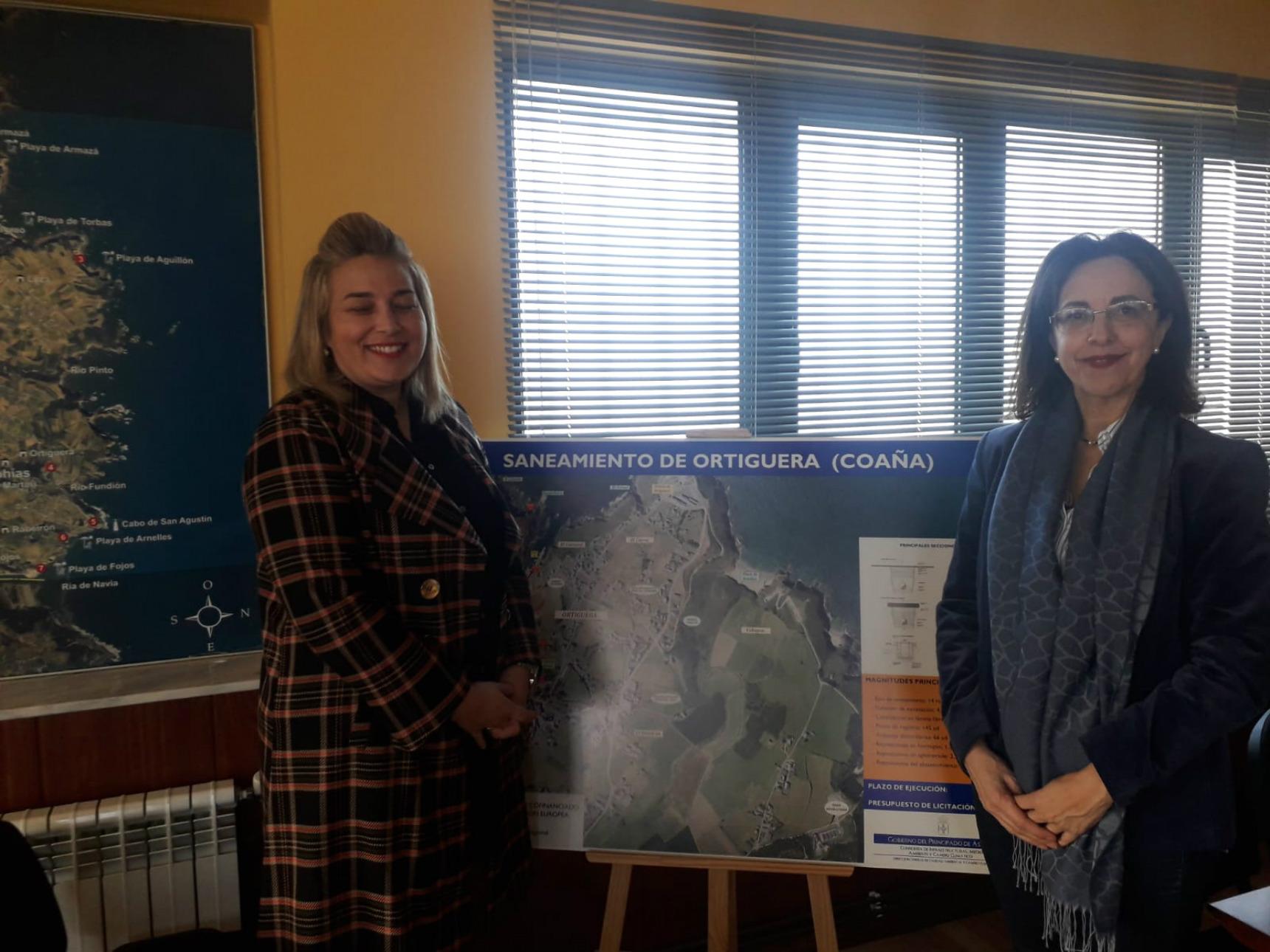 El hospital de Jarrio y el polígono de Riopinto se conectarán este año a la depuradora del Navia-Coaña 3