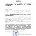 Bando Ayuntamiento Belmonte 11/03/2020