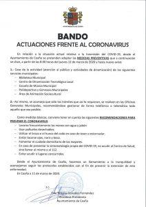 Los concejos del Occidente se suman a las medidas por el coronavirus 4