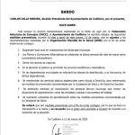 Bando Ayuntamiento Cudillero 12/03/2020