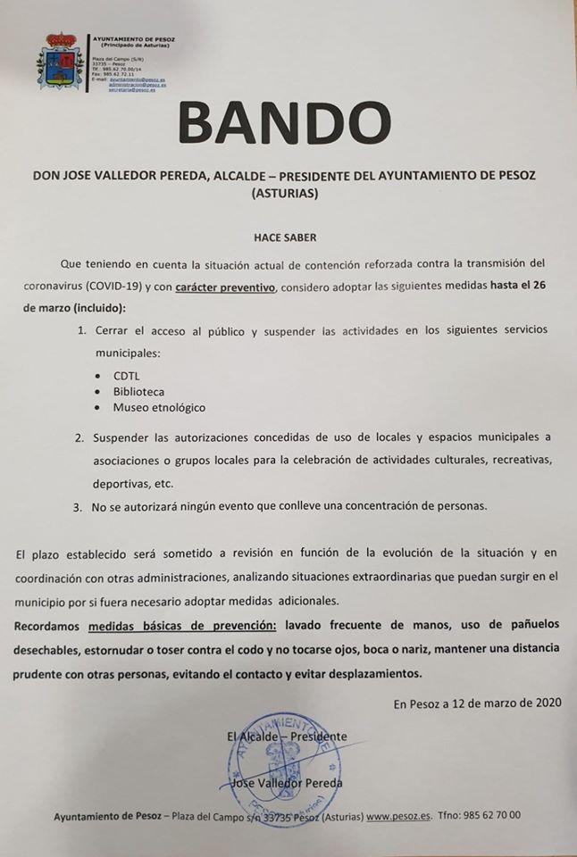 Bando Ayuntamiento Pesoz 12/30/2020 1