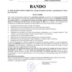 Bando Ayuntamiento Tineo 12/03/2020