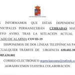 Cierre de Ayuntamiento y cambios en servicios en Coaña