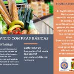 Servicio de compras básicas para grupos de riesgo en Navia