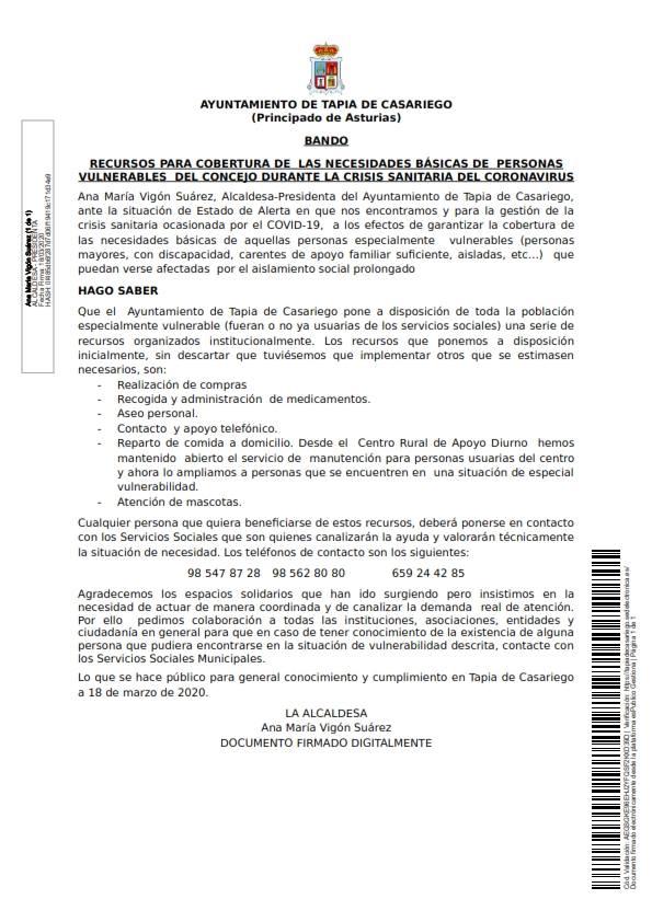 Recursos para la atención a colectivos vulnerables en Tapia 3