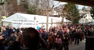«No pertenecemos a la España vaciada, sino a la comarca vacilada», claman en Grandas de Salime por el arreglo de la AS-12 1