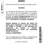 Cierre de los centros de salud de Cornellana, La Espina y Malleza