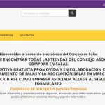 Salas pone en marcha una plataforma digital para los comercios locales