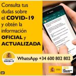 Un canal de consulta sobre el COVID-19 a través de WhatsApp
