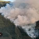 Incendio forestal en Tabladiello, en Cangas del Narcea