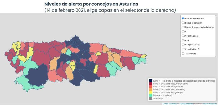 138 nuevos casos en Asturias el domingo, solo 2 en Occidente 1