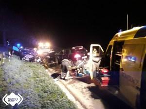 Una mujer fallecida y siete heridos en un accidente en Tineo 1