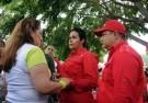 Primera dama Nidia de Rangel  y Neyla Gonzalez representante del IPSFA