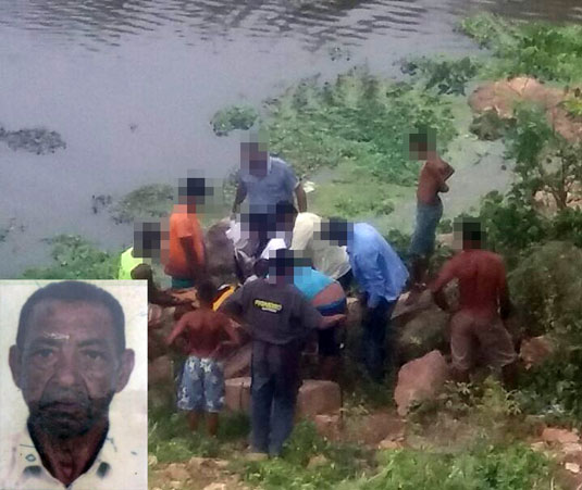 Idoso foi socorrido e levado ao hospital após cair de ponte ferroviária, mas não resistiu e morreu | Foto: Notícias de Santaluz