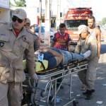 ACIDENTE – Motociclista fica ferido em colisão contra Kombi em Maricá
