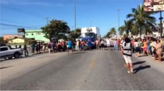 Manifestação em Cabo Frio
