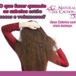 NATURAL DOS CACHOS – O que fazer quando os cabelos estão secos e volumosos?
