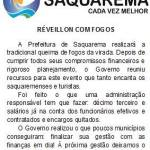 RÉVEILLON 2017 – Prefeitura de Saquarema anuncia que terá queima de fogos no Réveillon 2017