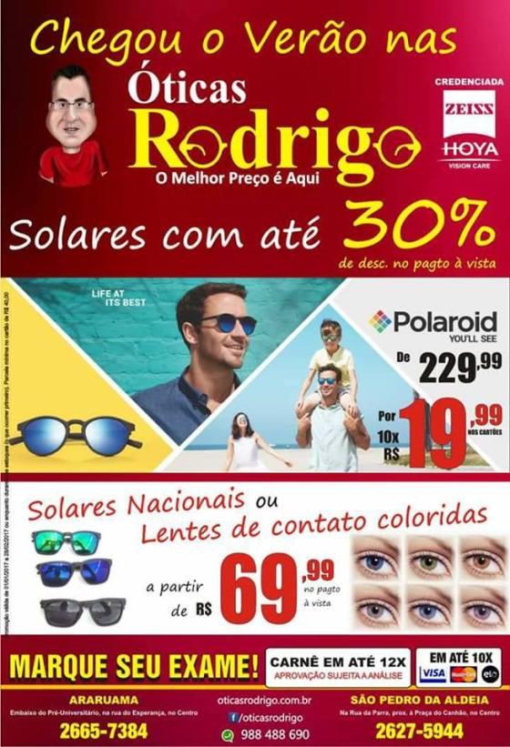 5c6a3e1577a11 ÓTICAS RODRIGO – Chegou o verão nas Óticas Rodrigo e os óculos solares  estão com preços imperdíveis