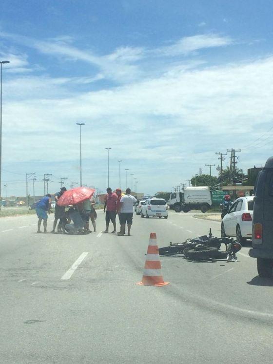 Acidente de moto em São Pedro da Aldeia