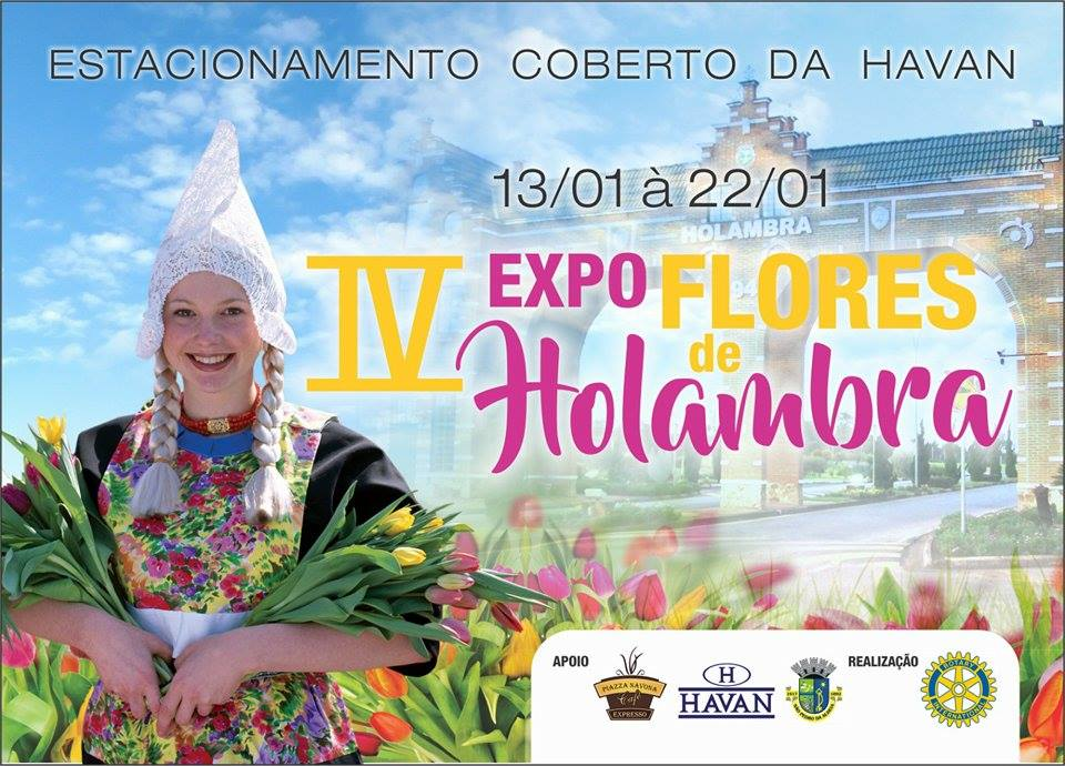 EVENTO - São Pedro da Aldeia receberá a IV Expo Flores Holambra