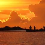 Exuberância do pôr do sol em São Pedro da Aldeia