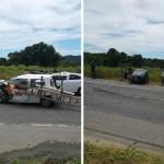 ACIDENTE – Acidente na RJ-106 interrompe trânsito parcialmente em São Pedro da Aldeia
