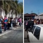 EMPREGO – Centenas de pessoas formam fila para vagas de emprego em mercado em Araruama