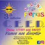 CEED – Vem aí a 3ª Edição da Colônia de Férias da Carlos Eduardo Escola de Danças