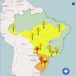 ALERTA – Inmet emite alerta amarelo com risco de vendaval para cidades do interior do Rio