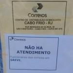 REGIÃO DOS LAGOS – Greve dos Correios atinge parcialmente centrais de distribuição no interior do Rio
